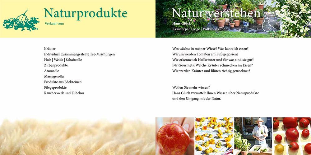 Naturprodukte Flyer