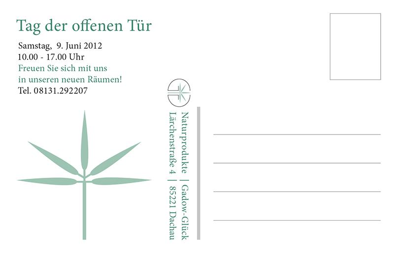 Naturprodukte Einladungskarte
